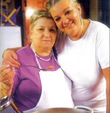 Anna Maria e la sua storica cuoca Simonetta
